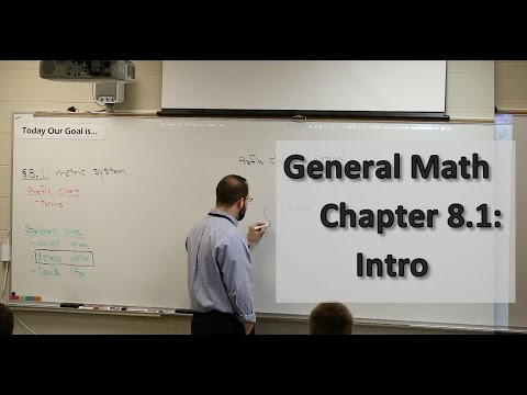 General Math Section 8.1: Introduction to the Metric System