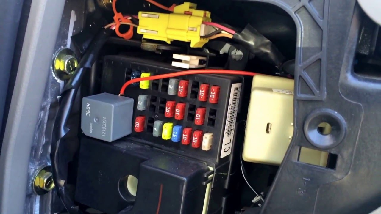 Chevy Impala 2000-2005 Fuse Box Location - YouTube