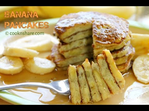 Flourless Banana Pancakes - 3 Ingredients