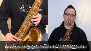 How to play Jingle Bell Rock on Tenor Saxophone (Saxophone Lesson CHR101t)
