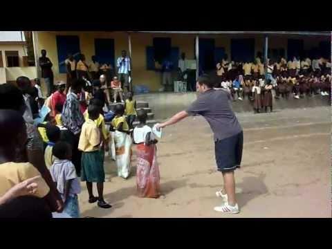 School children playing traditional games - Children's Activity Leader Volunteer Ghana