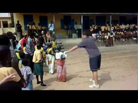 School children playing traditional games - Children