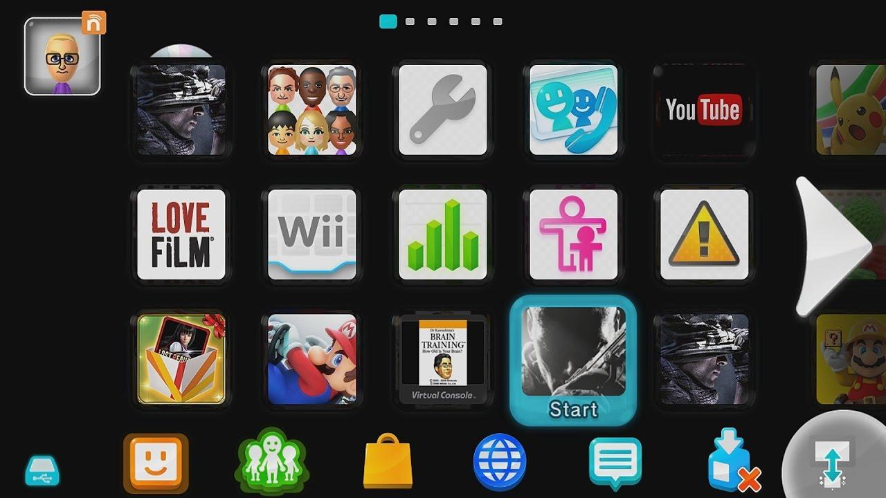 Wii U Menu Background Color Modifier Mod [Black Theme/White Theme