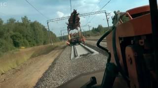 Керченский мост. Железная дорога. Укладка полотна.