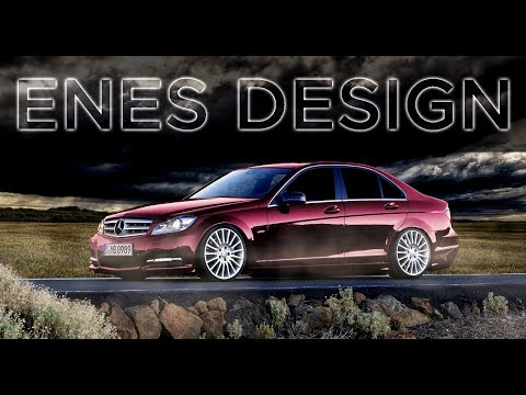 Mercedes W204 Modifiye ( Adobe Photoshop Cs6)