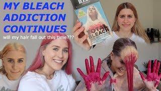 BLEACHING MY HAIR.. AGAIN.. MYSELF | Lucy Lynch