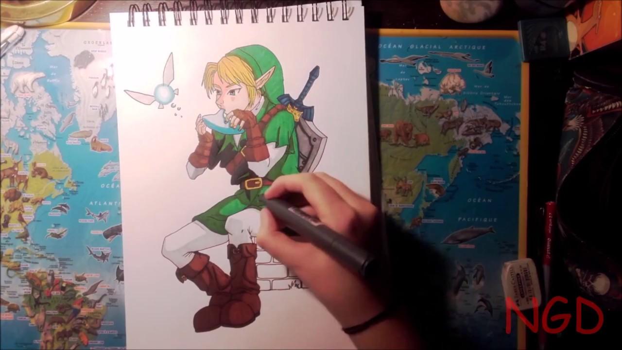 Dessiner Link Draw Link From The Legend Of Zelda Ocarina Of Time