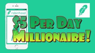 Become a MILLIONAIRE with $5 Per DAY!   Power of Stock Market Investing!