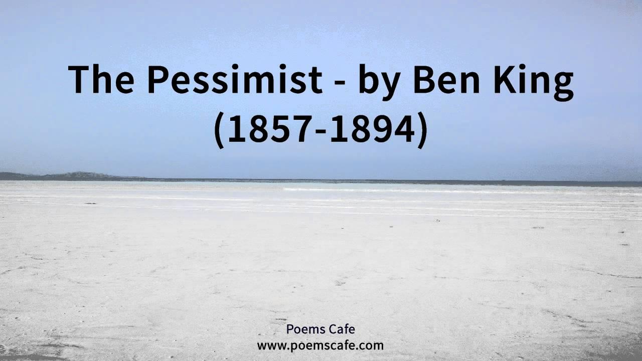 the pessimist poem