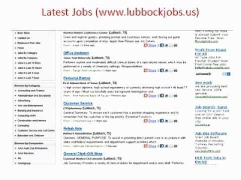 Lubbock Jobs | Jobs In Lubbock Jobs | City Of Lubbock Jobs