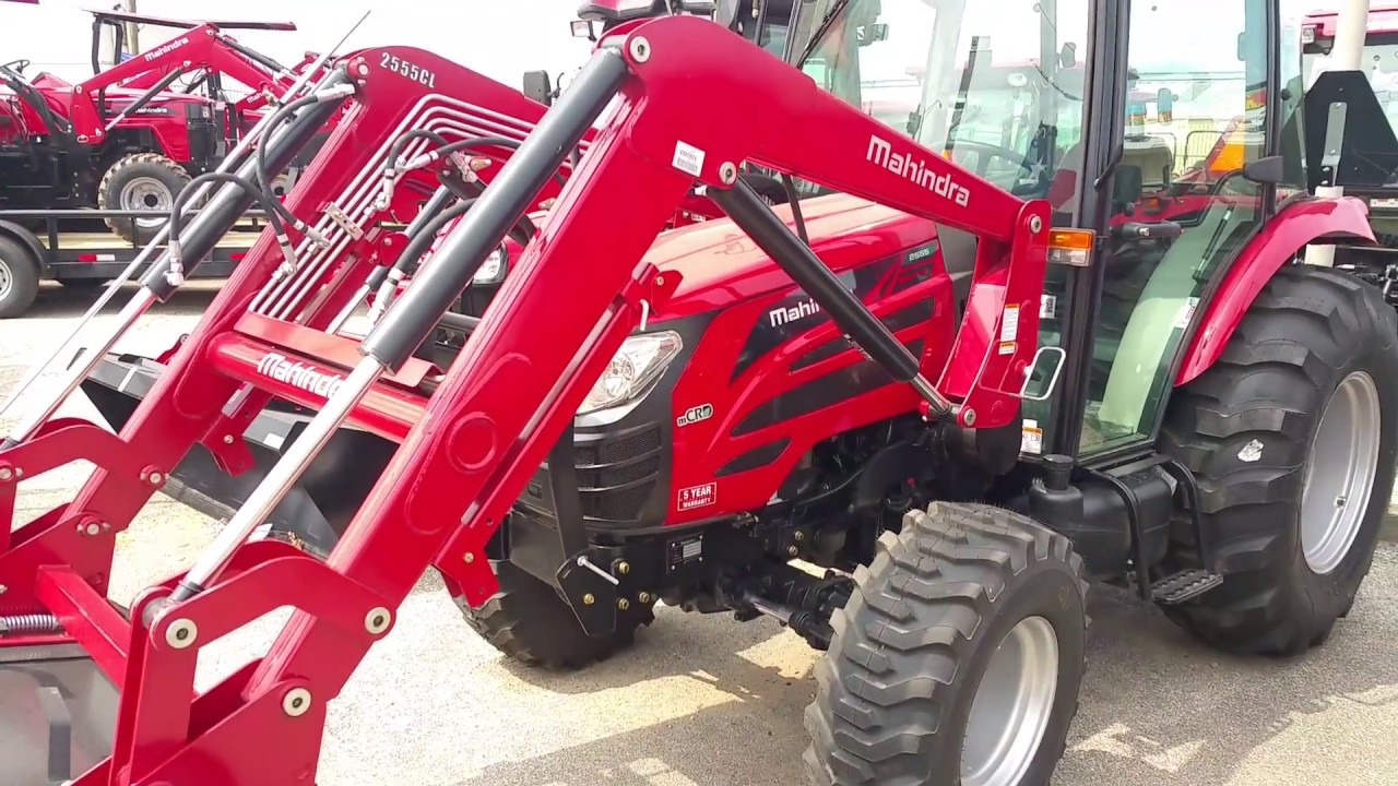 Mahindra 2555 55hp Cab Tractor Shuttle Shift 4w  D With A