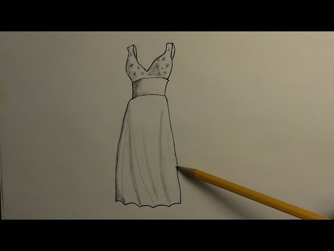 How to Draw a Prom Dress