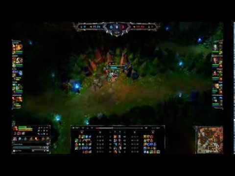 Nidalee spear hitting a target half a map below