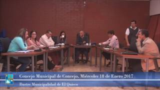 Concejo Municipal Miércoles 18 de Enero 2017
