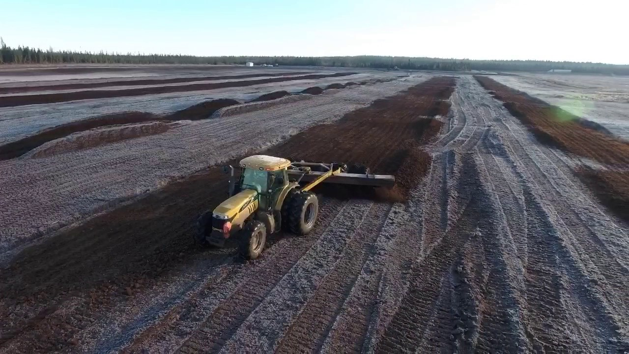 Peat Moss Harvest Drone Footage 1