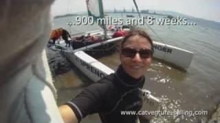 NACRA: 900 Miles trip with 5 meter sport catamaran (and dog)