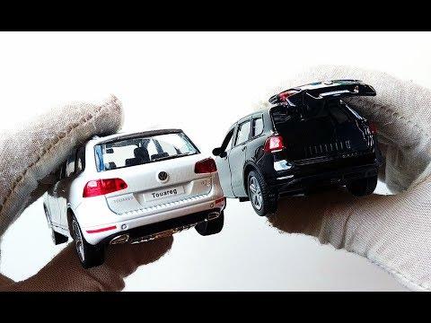 Про машинки. Распаковка и обзор модельки машины Volkswagen Touareg / Фольксваген Туарег.