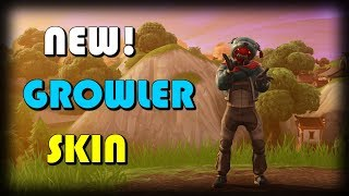 *NEW* GROWLER SKIN! Gameplay In Fortnite Battle Royale