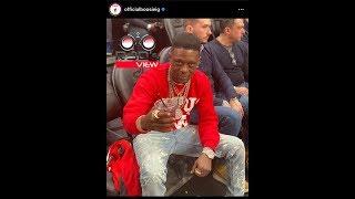Boosie Wears Kappa Alpha Psi Sweater To NBA Game R3D Speaks