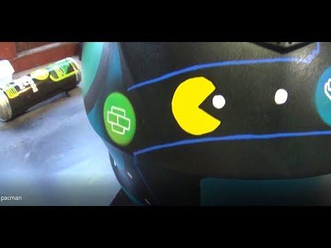 Cambridge Pinstriping, Pac-Mac Inspired Helmet