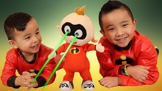 The Incredibles 2 Toys Fightin' Fun Jack Jack Unboxing Fun With Ckn Toys