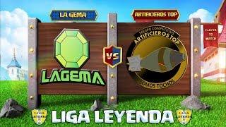 🔴LA GEMA VS ARTIFICIEROS TOP   LIGA LEYENDA- PARTIDO COMPETITIVO CLASH ROYALE