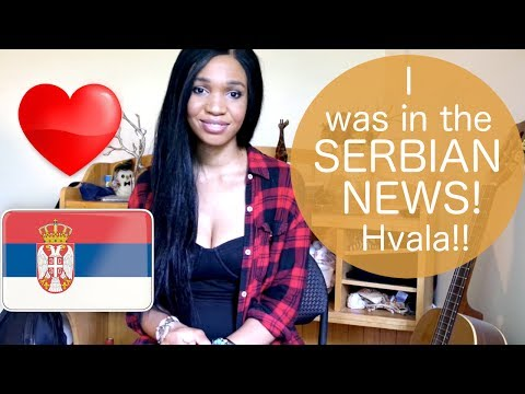 American in Serbian news! Thanks Serbia!
