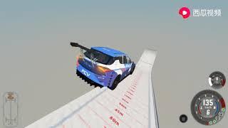小林解说 车祸模拟器 赛车挑战高空跳台,关闭引擎还会坏吗?