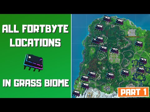 All Fortbyte Locations in The Grass Biome (Part 1)!  - Fortbyte Challenges Season 9