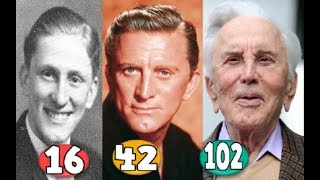 Kirk Douglas ♕ Transformation From 16 To 102 Years OLD