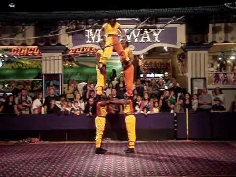 African Acrobats at Circus Circus