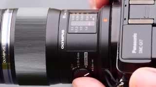 Подивіться на Олімп 60мм Ф2.8 об'єктив макро-до мікро Чотири третини камери