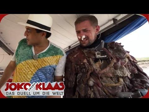 BRASILIEN: Im Fleischanzug mit Piranhas baden | Joko gegen Klaas - Das Duell um die Welt | ProSieben