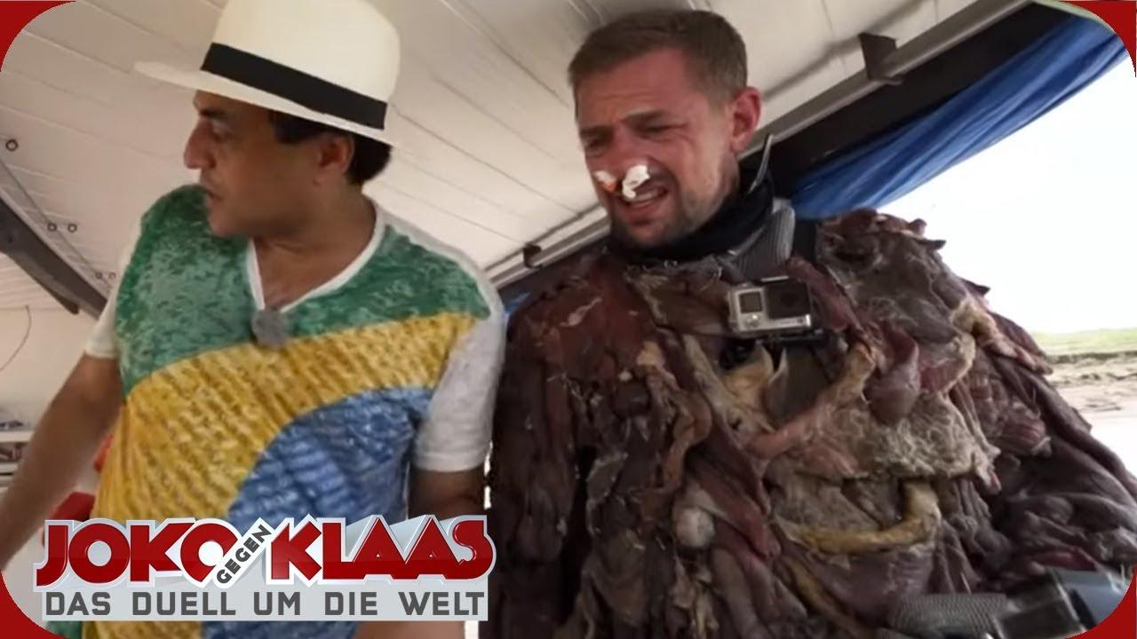 Brasilien Im Fleischanzug Mit Piranhas Baden Joko Gegen Klaas