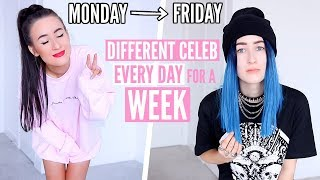 I Turned Into A Different CELEBRITY Every Day For A WEEK... | Sophie Louise