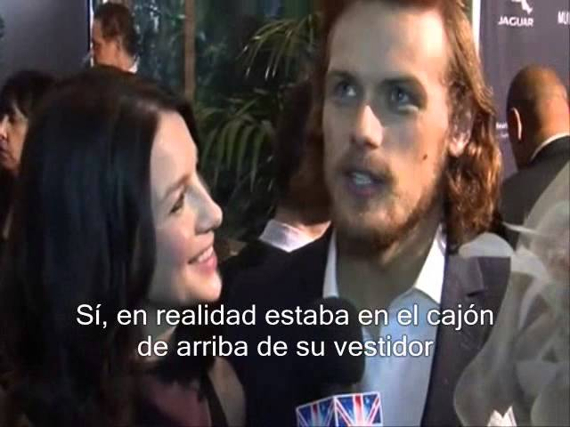 OUTLANDER Exclusive with Sam Heughan and Caitriona Balfe at BAFTA/LA Tea(subt. en español)