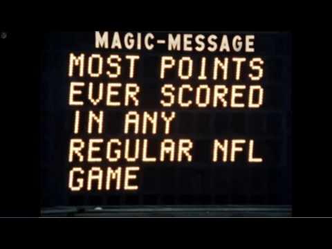 The Highest Scoring Game in NFL History - Redskins vs Giants 1966
