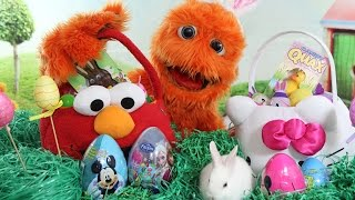 Coloring Easter Eggs with Silly Monsters and Tomy Hide 'n' Squeak Eggs Review