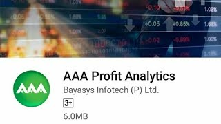 AAA Profit Analytics mobile app launch function on 31st March 2018.