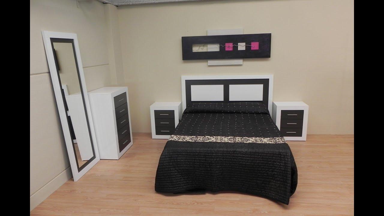 Dormitorio completo: cabezal, mesita de noche, sinfonier y espejo ...