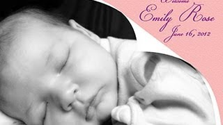 Photoshop Tutorial: How to Make a BABY or WEDDING Announcement Card from a PHOTO.