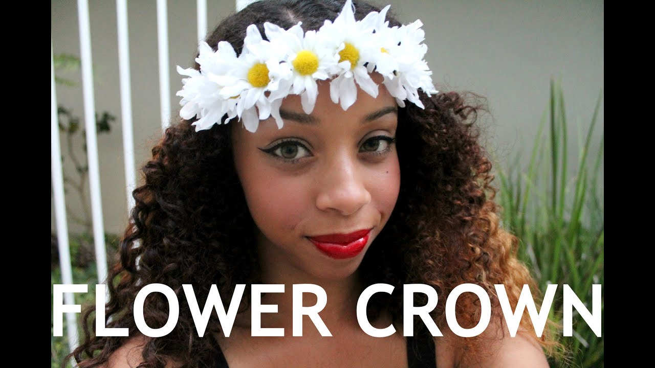diy flower crown tutorial how to style youtube diy flower crown tutorial how to style izmirmasajfo