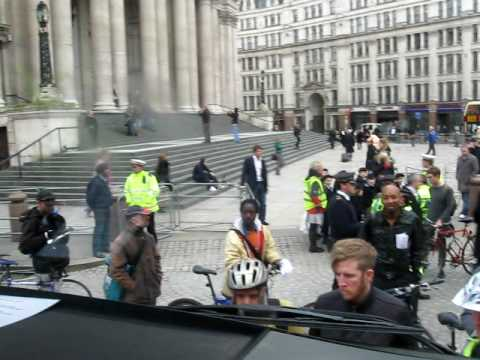Exchanging Places: Seeing Cyclists from inside the cab of a Lorry St Paul's, London 26/11/09