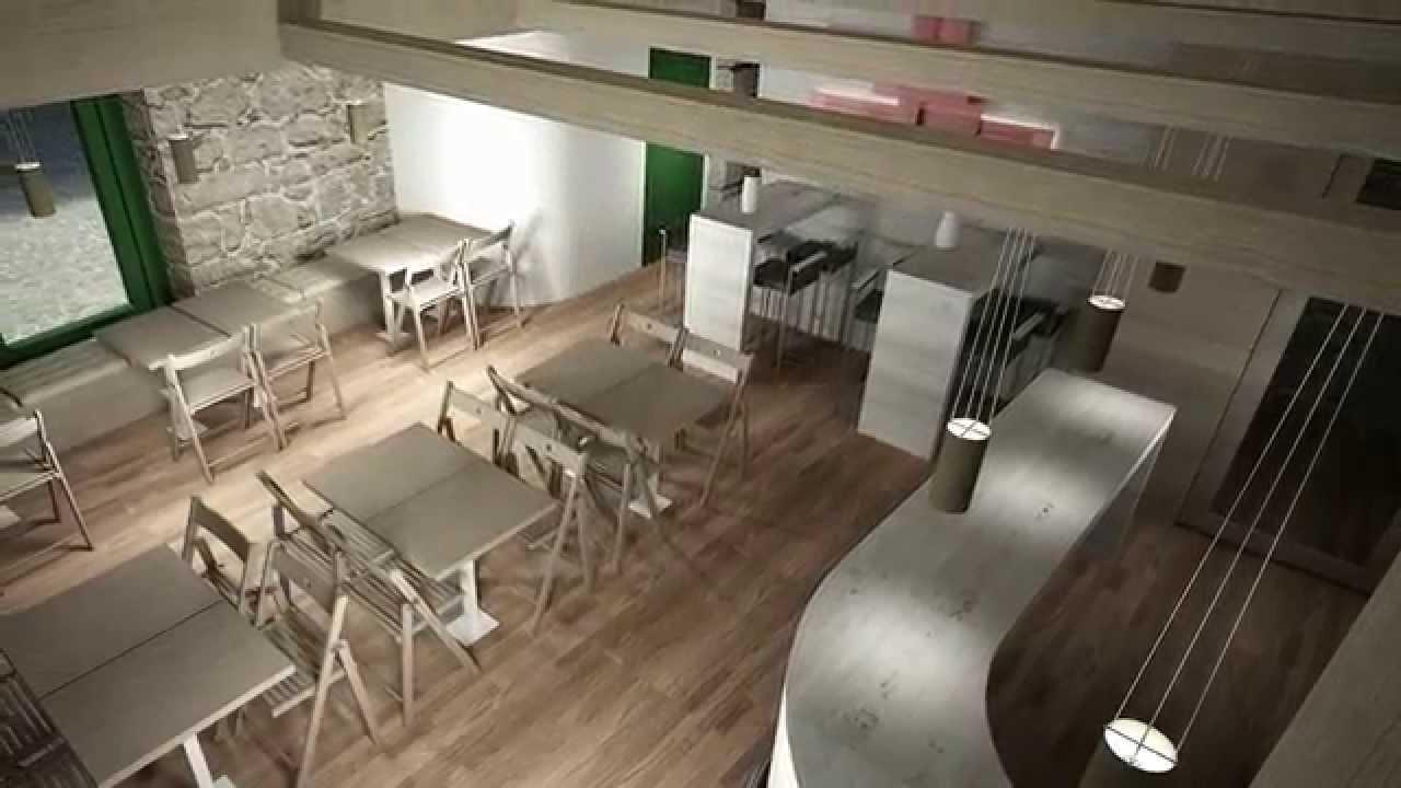 Dise o interior de cafeteria literarios youtube for Disenos para cafeterias