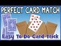 Card Matches Card   Chosen Card Picks Itself - Close up Magic Trick