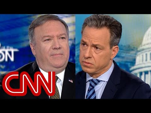 Pompeo: Trump didn't say that. Tapper: It's a direct quote.