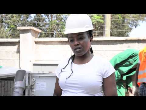 Female engineer with solution for Nairobi's sewage problem