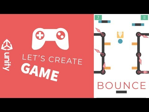 Unity tutorial - how to create a kechapp game - Bounce - Part 1 thumbnail