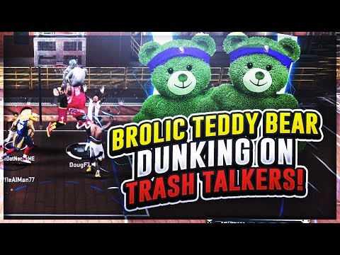 brolic-teddy-bear-slasher-dunking-on-trash-talkers!-dominated-most-epic-dunk-contest-|-nba2k17-park