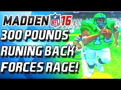 300 POUND RUNNING BACK FORCES RAGE QUIT! - Madden 16 Ultimate Team